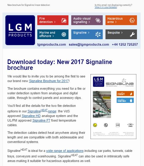 Signaline newsletter sign up